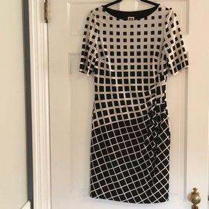 Anne Klein Short Sleeve Geometric Print Dress